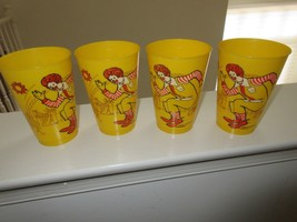 1978 McDONALD Yellow Plastic Cups Set of 4  Ronald McDonald - $15.00