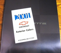 2001 Chevy Corvette, Z06 Prestige Brochure & Color Paint Chip & Trim Bro... - $14.11