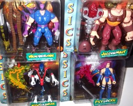 LOT - TOYBIZ MARVEL COMICS 1996 X-MEN CLASSICS Nightcrawler Wolverine + ... - $41.27