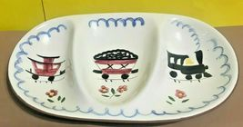 """STANGL KIDDIEWARE-- THREE PART DIVIDED MEAL TIME OVAL BOWL  10 1/4"""" X 6 ... - $29.95"""