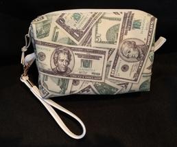 Clutch Bag/Wristlet/Makeup Bag - Money, dollars, 20's, 100's, 1's, greenbacks image 1
