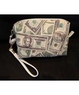 Clutch Bag/Wristlet/Makeup Bag - Money, dollars, 20's, 100's, 1's, green... - $29.95