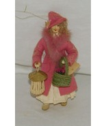 Signed Iris WOman Christmas Ornament Shopping 2006 Artist Made 19292 - $44.54