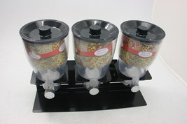 Zevro KCH-06150 Commercial Plus Dry Food Dispenser Triple Canister Black... - $91.21