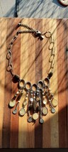 CHICO'S Mother of Pearl Statement Multi Pendant Bib Necklace - $79.00