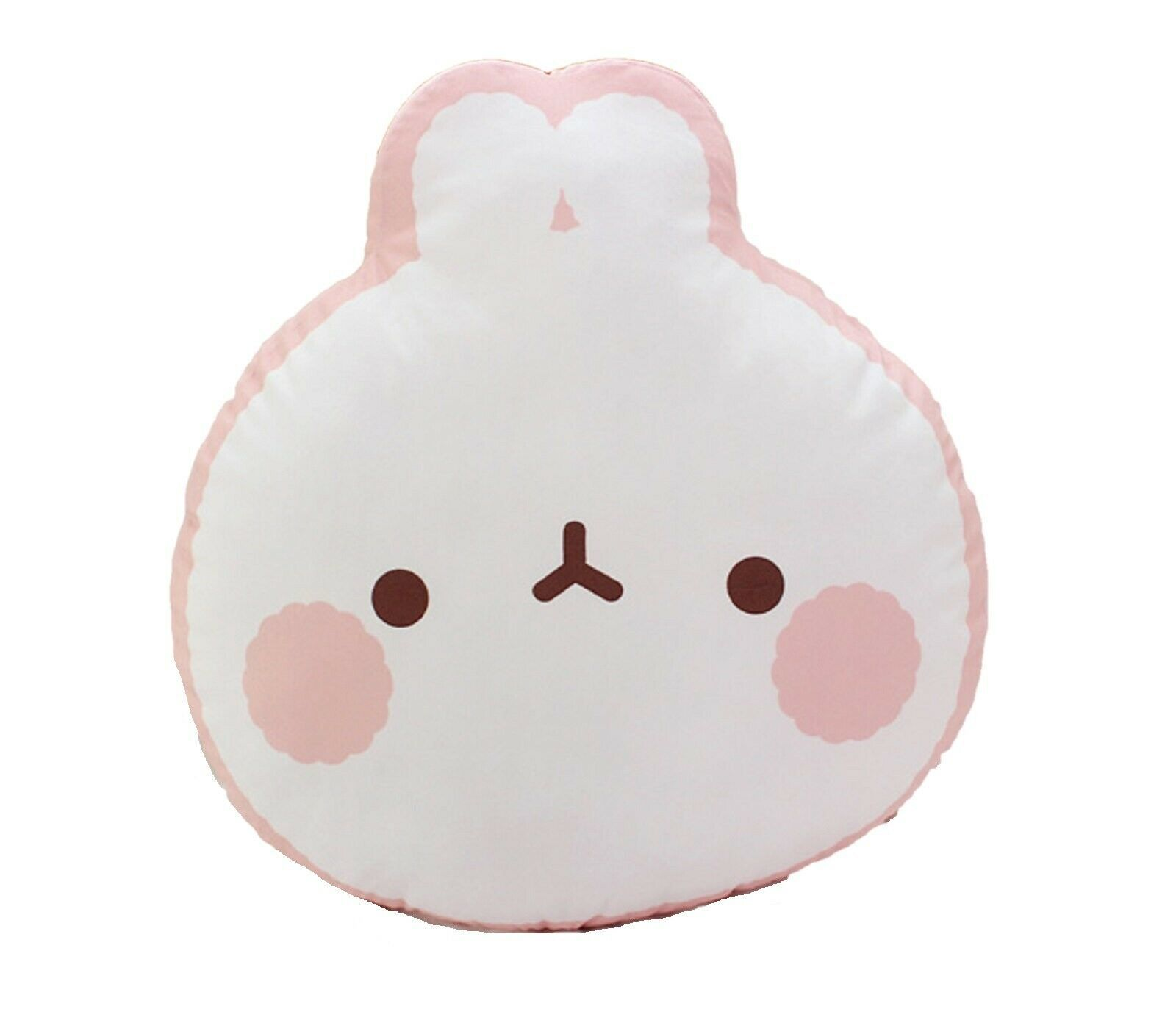 Molang Face Cushion Stuffed Animal Rabbit Plush Toy Pillow 17.7 inches