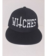 Lids Witches Custom Embroidered Baseball Fitted Hat Cap Black White Size 7 - $27.87