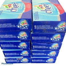 """10 Cheer Ultra """"Bright Clean"""" Laundry Detergent Single Load Boxes New - $15.47"""
