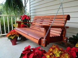 5ft Porch Swing,Handmade Southern Style,Western Red Cedar,Made in USA,Fr... - $379.99+