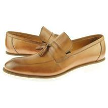Tan Color Burnished Apron Toe Genuine Leather Tassel Loafer Slip Ons Men... - $139.90+