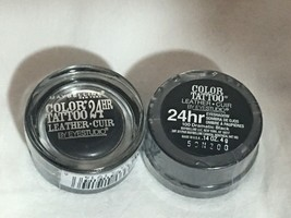2pk -Maybelline Eyestudio ColorTattoo Leather Cream Eyeshadow-100 Dramat... - $10.25