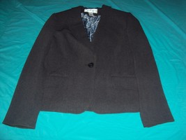 Jones New York Charcoal Blazer Women's Size 8 Jacket M Medium Classic Look - $22.42