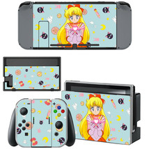 Nintendo Switch Joy-Con Dock Console Vinyl Skin Sticker Sailor Moon Venus Minako - $9.70