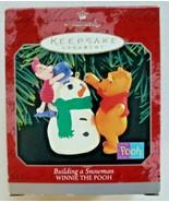 Hallmark 1998 Building a Snowman Winnie the Pooh and PigletOrnament NIB - $18.99
