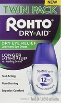 Rohto Dry-Aid Eye Relief Lubricant Eye Drops, Twin Pack (0.34 Ounce Each) - $28.84