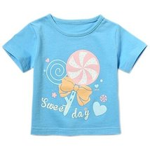 Candy Pure Cotton Infant Tee Baby Toddler T-Shirt BLUE 90 CM (12-18M)