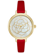 KATE SPADE METRO ROSE RED LEATHER WATCH,WHITE MOP DIAL, #KSW1183 -NWT MS... - $138.38