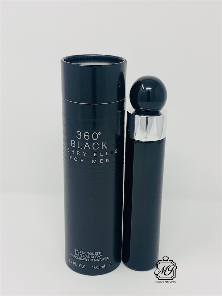 360 Black by Perry Ellis for men Edt Spray 3.4 Oz New In Box - $26.63
