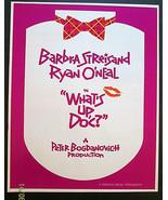 BARBRA STREISAND,RYAN ONEAL (WHATS UP DOC) ORIGINAL 1972 MOVIE PRESSBOOK - $98.99