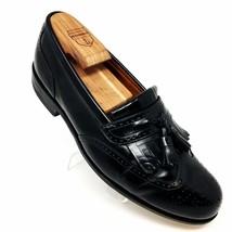 Bostonian Evanston Black Leather Brogue Wingtip Kiltie Tassels Shoes Mens 8.5 M - $44.34