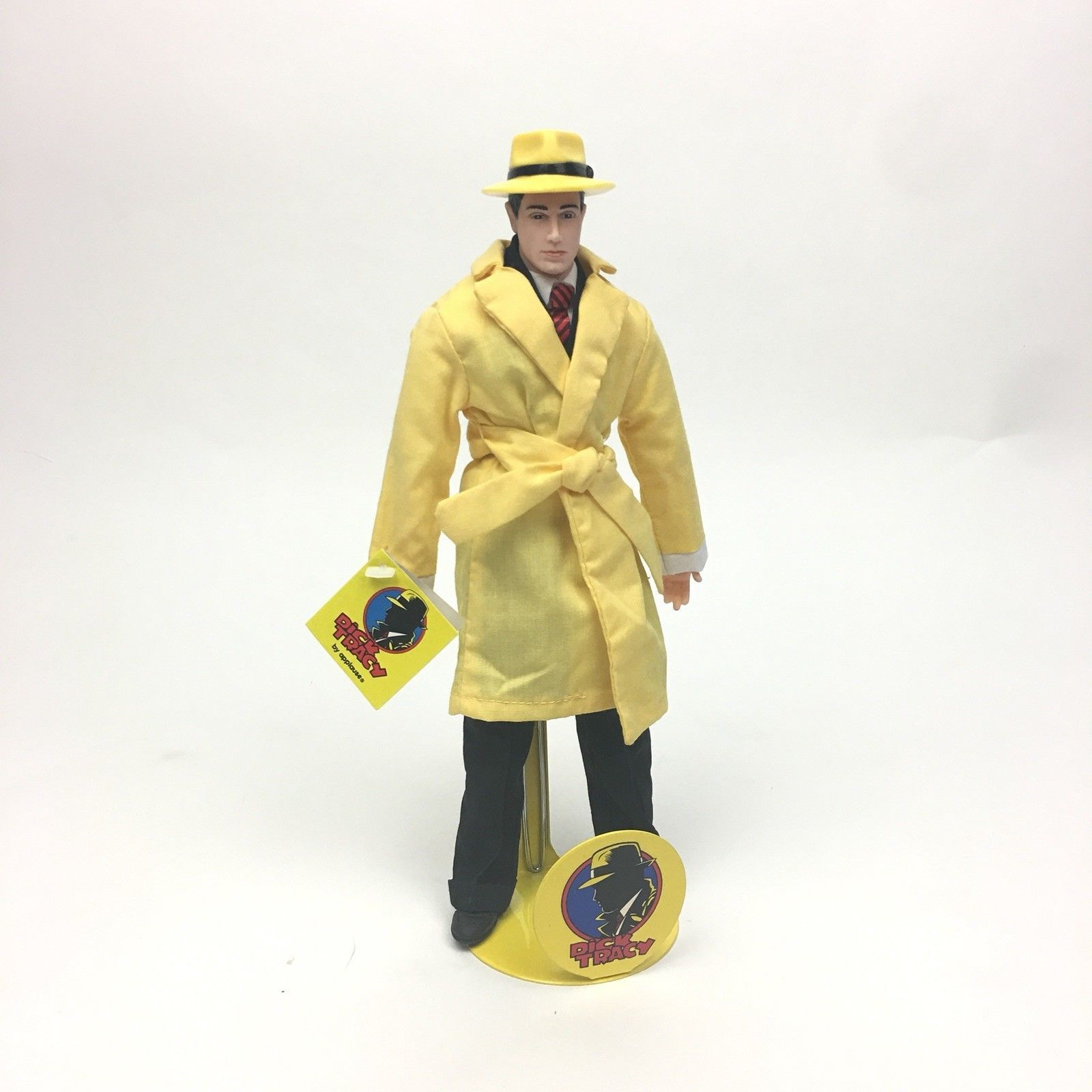 Primary image for Dick Tracy by Applause Doll w Original Stand Vintage 1990s Collectible Figurine