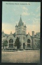 Florida First Christian Church Jacksonville FL Vintage ca 1910 Postcard - $4.99