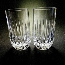 2 (Two) VINTAGE STUART CLARIDGE Cut Lead Crystal Highballs DISCONTINUED-... - $132.99