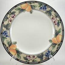 "Mikasa Intaglio Garden Harvest Dinner Plate 11-1/8"" Stoneware Fruit - $7.92"