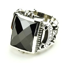 Thailand jewelry  Men's Thai Silver Ring with Atmospheric Gem Ring Face ... - $214.09