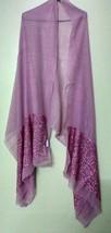 Sequins work pink stole scarf shawl neck warp fine quality+ 1 pc complem... - $36.99