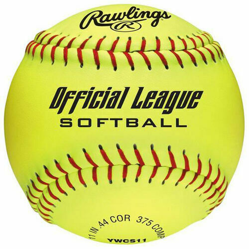 Rawlings 12-Inch Yellow Official League Softball 6-Pack - $28.04