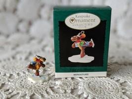 Hallmark Miniature A Gift From Rodney Skating Reindeer 1995 - $6.78