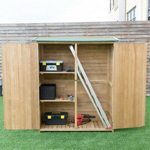 64 Wooden Storage Shed Outdoor Fir Wood Cabinet' - $446.06