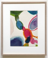 Alice Baber Watercolor Signed Framed Abstract - $1,980.00