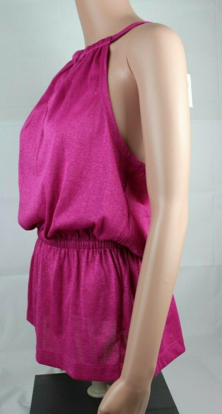 Calvin Klein women's top sleeveless pink glitter size S/P image 3