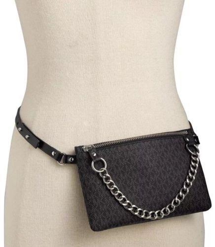 311b41a3b83c Michael Kors Fanny Pack Belt Black MK Logo and 50 similar items. 12