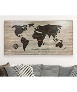World Map Art Wooden 3D Carved Housewarming Personalized Handmade Travel... - $296.01+