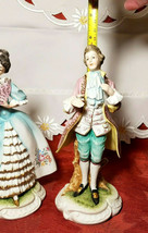 Vintage Lefton China Pair of Colonial Man & Woman Figurines KW7225 image 2
