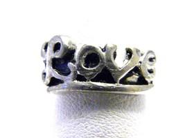 Love Ring Silvertone Vintage Cute - $15.29