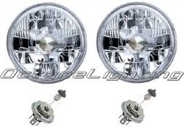 55 56 57 Chevy Halogen Headlight Headlamp Bulbs Crystal Clear H4 60/55W Pair - $39.95