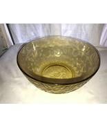 """Vintage Amber Federal Glass Madrid 9.5"""" Salad Bowl Mint  - $34.99"""