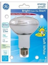 Energy Smart Light Bulb Soft White 15W 65W Replacement Instantly Bright GE 1Bulb - $7.99