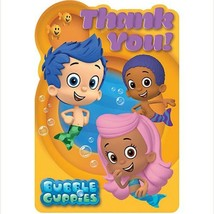 Bubble Guppies Thank You Cards with Seals 8 Per Package Birthday Party S... - $4.21