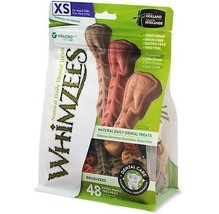 Paragon Whimzees Toothbrush Star Dental Treat for X-Small Dogs, 49 Per Bag - $22.88