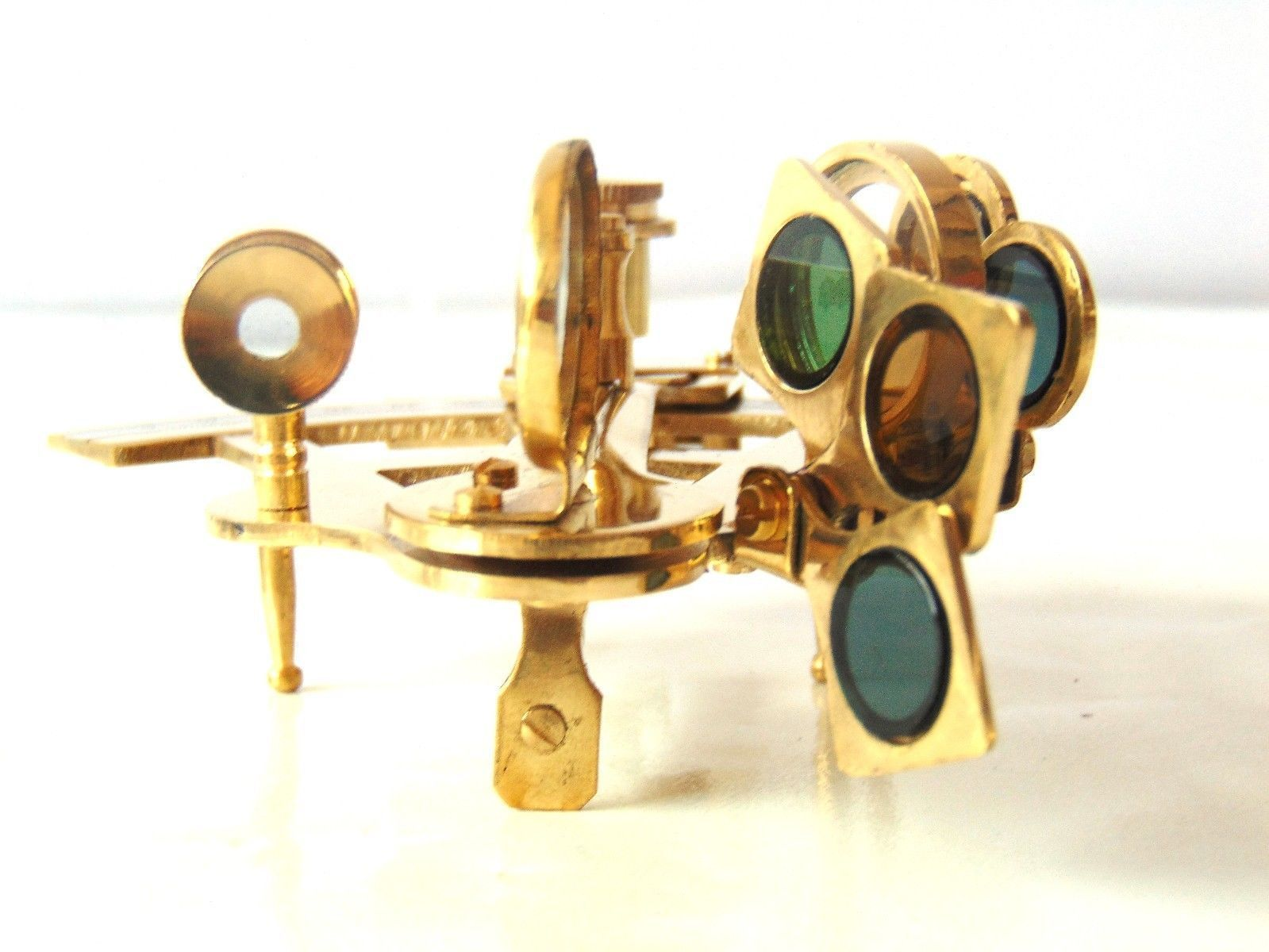 Solid Brass Working Sextant Vintage Desk Astrolabe Sextant Maritime Collectible