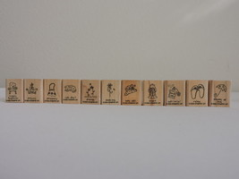 Stampin Up A Little Love 11/12 Stamps Set Flip Flops Relax Purse Dog Fri... - $8.87