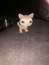 Littlest Pet Shop Brown Beige Tan Husky Puppy Dog #358 Green Dot Eyes Ha... - $112,15 MXN