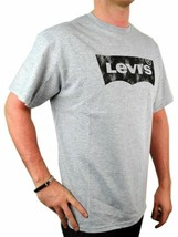 Levi's Men's Premium Classic Graphic Cotton T-Shirt Shirt Tee Gray image 2