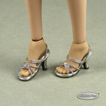 1/6 Phicen, TB League, Hot Toys, Cy & NT - Sexy Female Silver Strap Heel... - $18.56