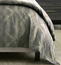 Sferra Belardo Duvet Cover F/Queen Indigo Cotton Sateen Jacquard Italy New - $529.90